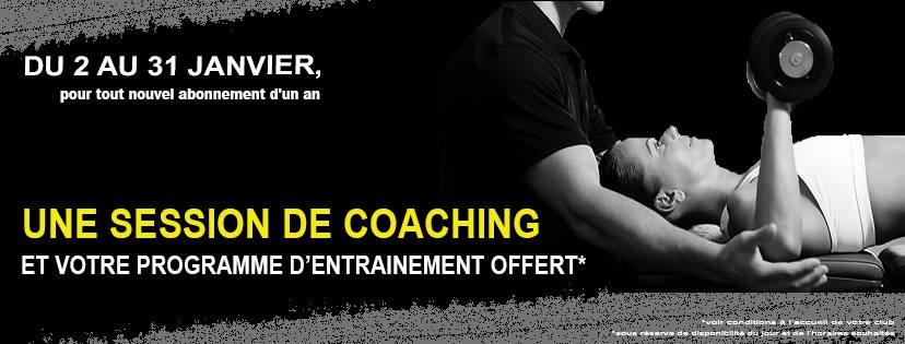 Offre Coaching Janvier 2018 (valable un mois, su 01 au 31 janvier 2018)